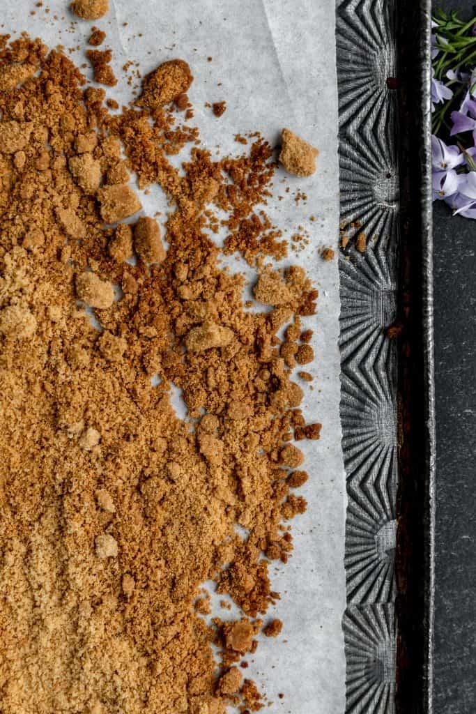 baked streusel made into streusel crunch