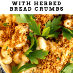 mac and cheese with herbed bread crumbs