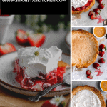 strawberry cream cheese pie, a plain baked crust, a baked crust with cream cheese mix