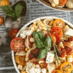 Summer pasta salad with corn and bacon
