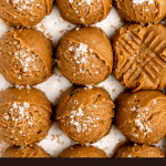 raw peanut butter cookie dough for chocolate peanut butter cookies