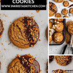 multiple shots of raw and cooked peanut butter cookies