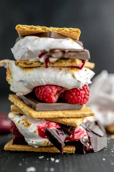 raspberry s'more stack