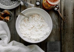 butter, flour and salt mixed together to get a coarse meal texture