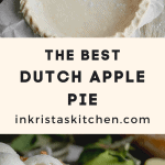 Dutch apple pie with pie crust